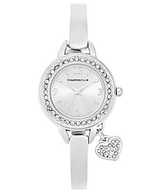 Women's Heart Charm Bangle Bracelet Watch 26mm, Created for Macy's