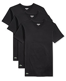 Lacoste Men's 3 Pack V-Neck Undershirts