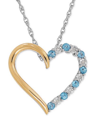 Blue topaz 13 ct tw and diamond accent heart pendant necklace tw and diamond accent heart pendant necklace aloadofball Image collections