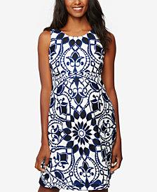 Taylor Maternity Printed Sleeveless Dress