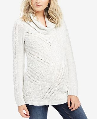 Motherhood Maternity Cowl-Neck Sweater - Maternity - Women - Macy's