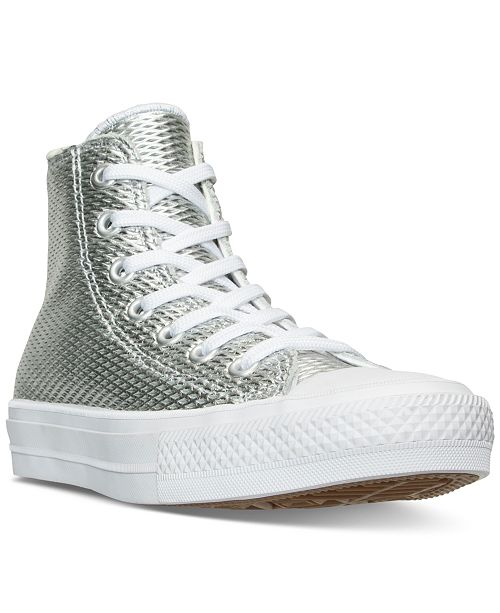 f6ad6ed3b383 ... Converse Women s Chuck Taylor II Hi Perf Metallic Leather Casual  Sneakers from Finish ...