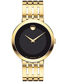 Movado Men's Swiss Esperanza Gold-Tone Stainless Steel Bracelet Watch 39mm 0607059