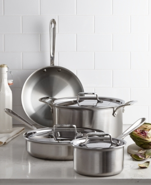 All-Clad D5 Brushed Stainless Steel 7 Piece