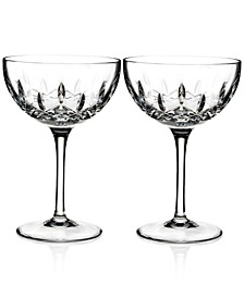 Lismore Pops Clear Cocktail Glass Pair