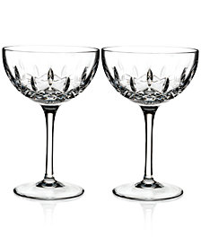 Waterford Lismore Pops Clear Cocktail Glass Pair