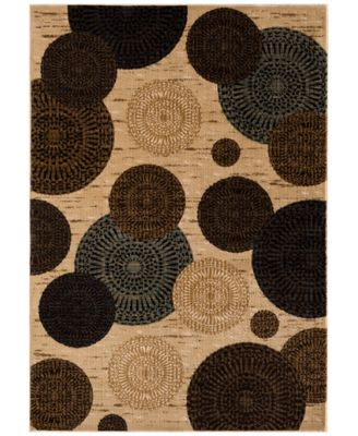 """CLOSEOUT! Sanford Comet Wheat 7'10"""" x 10'10"""" Area Rug, Created for Macy's"""