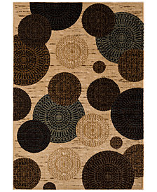 "KM Home Sanford Comet Wheat 3'3"" x 5'3"" Area Rug, Created for Macy's"