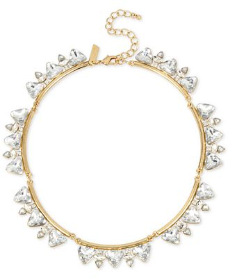 M. Haskell for INC International Concepts Gold-Tone Crystal Triangles Collar Necklace, Only at Macy's