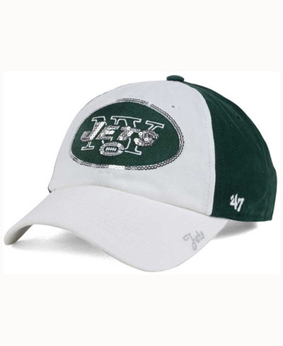 '47 Brand Women's New York Jets White Sparkle Cap