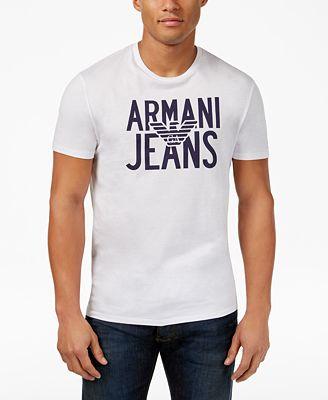 Armani Jeans Men's Eagle Graphic-Print Logo T-Shirt