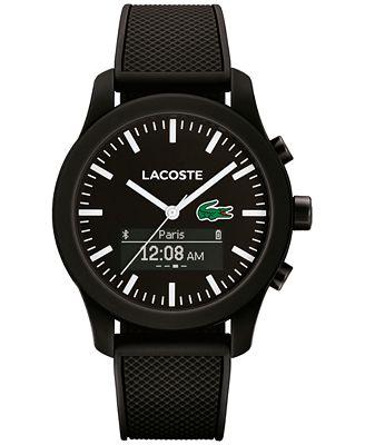 Lacoste Men's Analog-Digital L.12.12 Contact Black Rubber ...