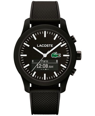 lacoste mens analogdigital l1212 contact black rubber