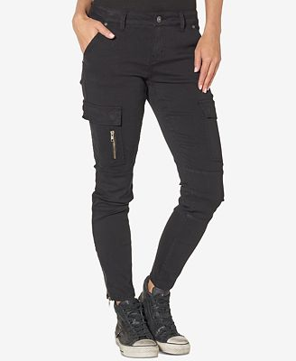 Silver Jeans Co. Cargo Black Wash Skinny Jeans - Jeans - Women