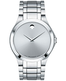 Men's Swiss Collection Stainless Steel Bracelet Watch 40mm, Created for Macy's