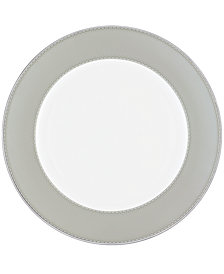 Monique Lhuillier Waterford Dinnerware, Dentelle Charger Plate Gray