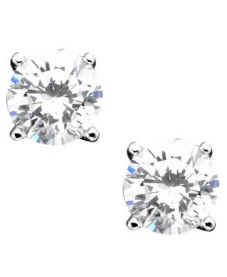 Image of Giani Bernini Sterling Silver Earrings, Cubic Zirconia Stud (2 ct. t.w.)