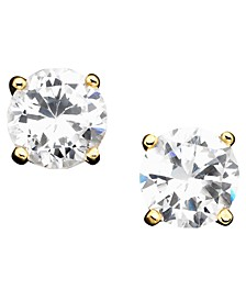 Cubic Zirconia Sterling Silver Stud Earrings, Created for Macy's