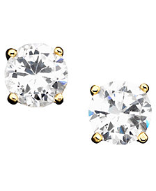 Giani Bernini Cubic Zirconia Sterling Silver Stud Earrings, Created for Macy's