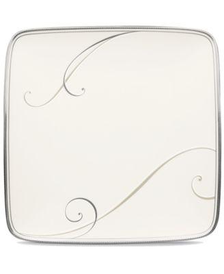 Dinnerware, Platinum Wave Small Square Accent Plate