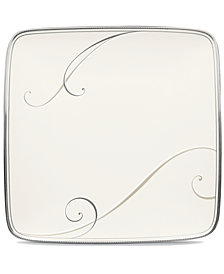 Noritake Dinnerware, Platinum Wave Small Square Accent Plate