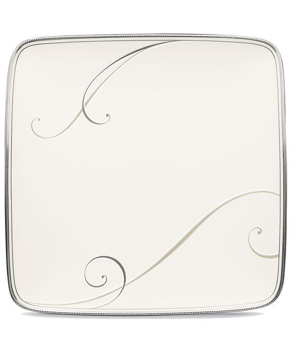 Noritake Dinnerware, Platinum Wave Small Square Accent Plate