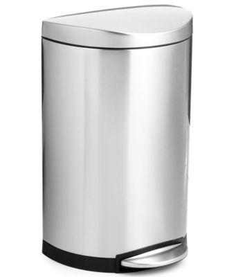 simplehuman 40 Liter Deluxe Semi Round Step Trash Can   Kitchen Gadgets    Kitchen   Macy s. simplehuman 40 Liter Deluxe Semi Round Step Trash Can   Kitchen