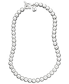 "Lauren Ralph Lauren 16"" Silver-Tone Metal Bead Collection"
