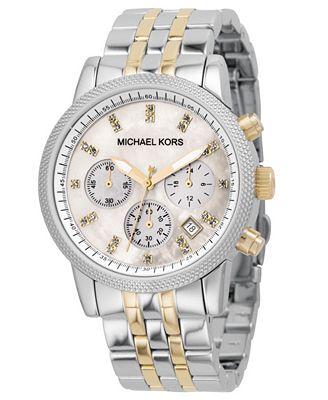 Michael Kors Women's Ritz Two-Tone Bracelet Watch 38mm MK5057