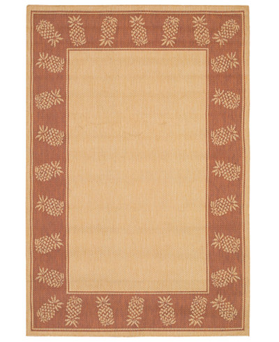 CLOSEOUT! Couristan Area Rug, Recife Indoor/Outdoor 1177/1112 Tropics Natural-Terra-cotta 8' 6