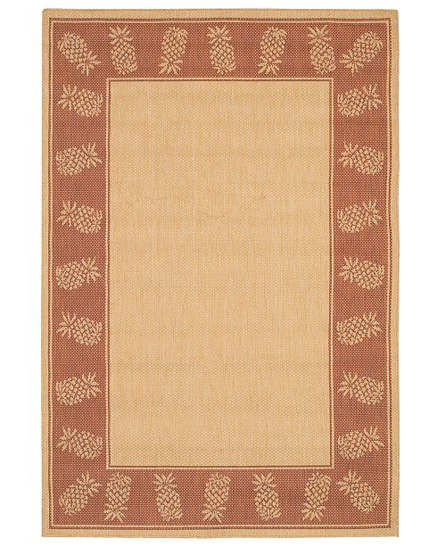 Couristan CLOSEOUT! Rugs, Recife Indoor/Outdoor 1177/1112 Tropics Natural-Terra-cotta