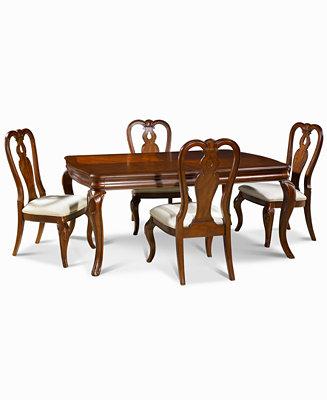 Bordeaux 5 Piece Dining Room Furniture Set Table 4 Queen Anne Side Cha