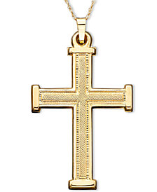 14k gold cross shop for and buy 14k gold cross online macys cross pendant in 14k gold mozeypictures Images
