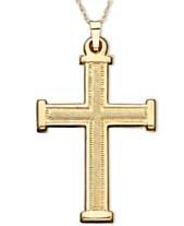 8425ddaa7 Gold Cross Necklace: Shop Gold Cross Necklace - Macy's