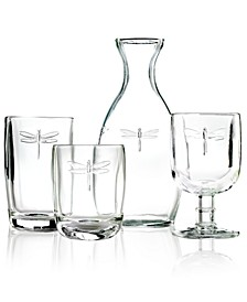 Glassware, Dragonfly Sets of 6 Collection