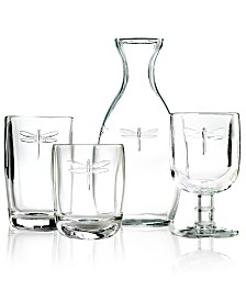 La Rochère Glassware, Dragonfly Sets of 6 Collection