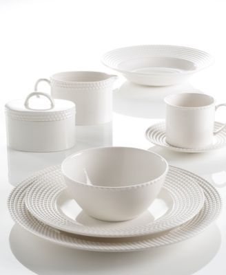 Dine with the Wickford dinnerware collection and tie in timeless sophistication with every meal. Versatile white porcelain in contemporary shapes is ...  sc 1 st  Macy\u0027s & kate spade new york Dinnerware Wickford Dinnerware Collection ...