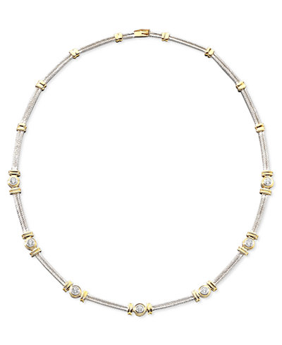 Diamond Necklace in 14k Two-Tone Gold (1 ct. t.w.)