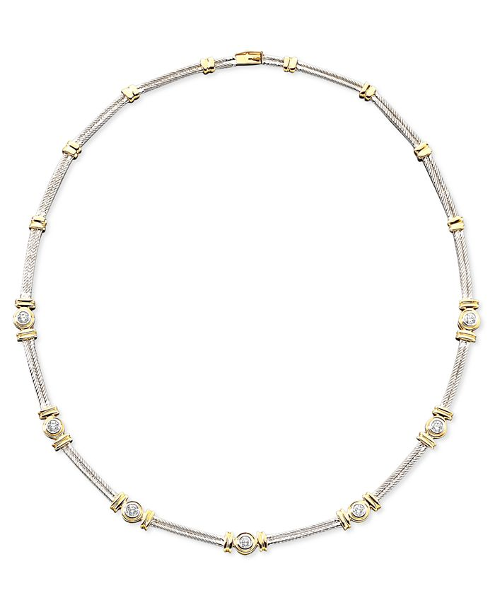 Macy's - Diamond Necklace in 14k Two-Tone Gold (1 ct. t.w.)