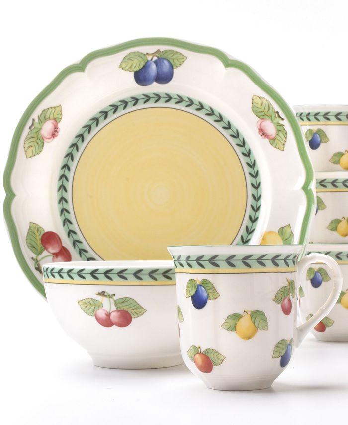 """Villeroy & Boch - """"French Garden"""" 12-Piece Dinnerware Set"""