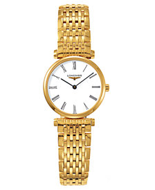 Longines Women's La Grande Classique Gold Plated Bracelet Watch L42092118