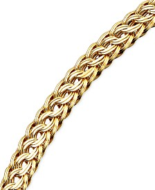 Circle Braided Bracelet in 14k Gold