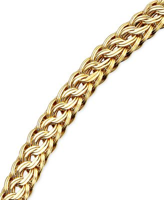 Circle Braided Bracelet In 14k Gold Bracelets Jewelry
