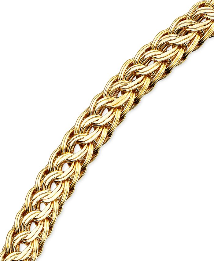 Macy's - Circle Braided Bracelet in 14k Gold