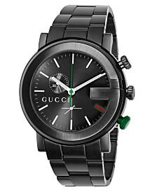 Gucci Unisex G-Chrono Black Stainless Steel Bracelet Watch 44mm YA101331