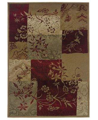 CLOSEOUT!  Area Rug, Genesis 80X Patchwork Vines 2' x 3'