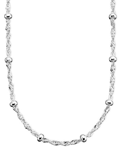 lariat spring necklace long clasp circle silver bar pin sterling ring