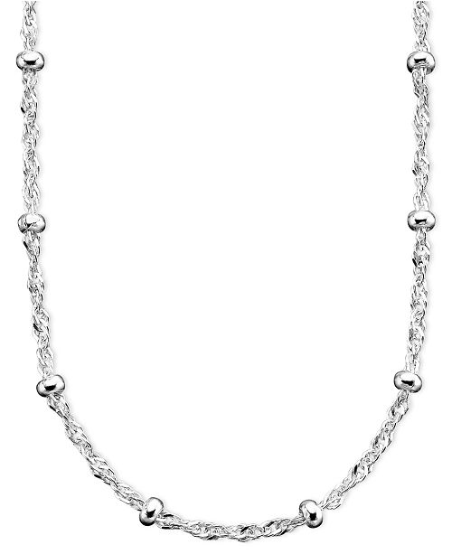 Giani Bernini Sterling Silver Necklace 16 30 Small Bead Station Singapore Chain Reviews Necklaces Jewelry Watches Macy S