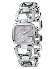 Gucci Women's Swiss Stainless Steel Bracelet Watch 25mm YA125502