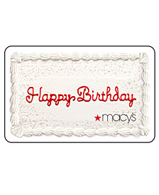 Happy Birthday Cake Gift Card with Letter